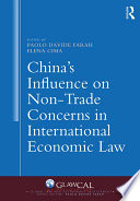 China's Influence on Non-Trade Concerns in International Economic Law