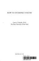 How to Interpret Poetry Book