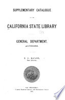 Catalogue of the California State Library