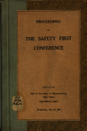 Proceedings of the Safety First Conference