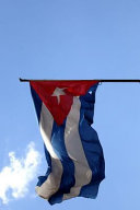 Cuban Flag Flying in the Wind in Havana Cuba Journal