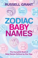 Zodiac Baby Names