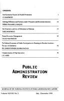 Public Administration Review