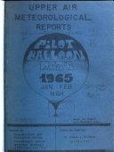 Observational Reports  Pilot Balloon Data Book