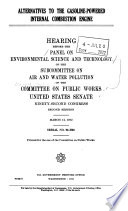 Alternatives to the Gasoline powered Internal Combustion Engine Book