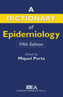 Pdf A Dictionary of Epidemiology