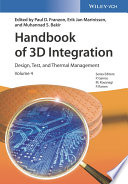 Handbook of 3D Integration Book