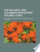 The Balance, and Columbian Repository Volume 4