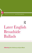Later English Broadside Ballads [Pdf/ePub] eBook