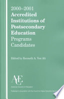 Accredited Institutions of Postsecondary Education and Programs
