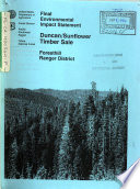 Tahoe National Forest  N F   Duncan Sunflower Timber Sale  Foresthill Ranger District Book PDF