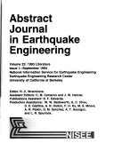 Abstract Journal in Earthquake Engineering