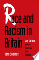 Race And Racism In Britain Book