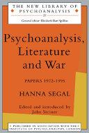 Psychoanalysis, Literature and War [Pdf/ePub] eBook
