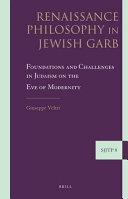 Renaissance Philosophy in Jewish Garb