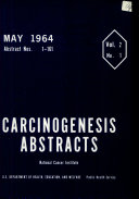 Carcinogenesis Abstracts