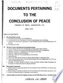 Documents Pertaining to the Conclusion of Peace Book PDF
