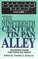 American Popular Music: The nineteenth century and Tin Pan Alley