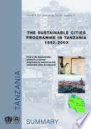 The Sustainable Cities Programme In Tanzania 1992 2003