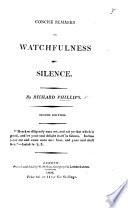 Concise remarks on Watchfulness and Silence     Second edition Book
