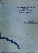 The Market Structure of the Southern California Water Industry Book PDF