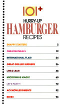 One Hundred One Plus Hurry Up Hamburger Recipes