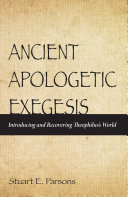 Pdf Ancient Apologetic Exegesis Telecharger