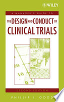 A Manager S Guide To The Design And Conduct Of Clinical Trials Book PDF