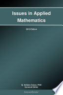 Issues in Applied Mathematics: 2013 Edition