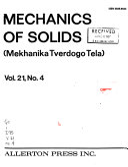 Mechanics of Solids Book