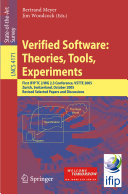 Verified Software  Theories  Tools  Experiments