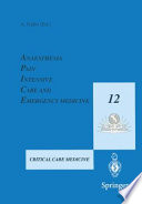 Anaesthesia  Pain  Intensive Care and Emergency Medicine   A P I C E  Book