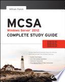 Cover of MCSA Windows Server 2012 Complete Study Guide