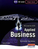 GCE AS Level Applied Business Single Award for OCR