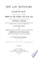 A New Law Dictionary And Glossary Book PDF