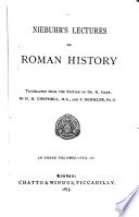 Niebuhr s Lectures on Roman History Book