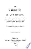 The mechanics of law-making
