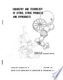 Chemistry and Technology of Citrus  Citrus Products and Byproducts Book