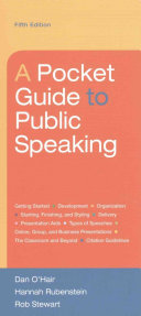 Pocket Guide to Public Speaking  With Access Code