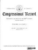 Congressional Record, V. 144, Pt. 1, January 27, 1998 to February 13 1998