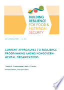 Current approaches to resilience programming among nongovernmental organizations