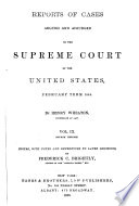 United States Reports Book