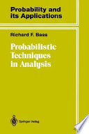 Probabilistic Techniques in Analysis