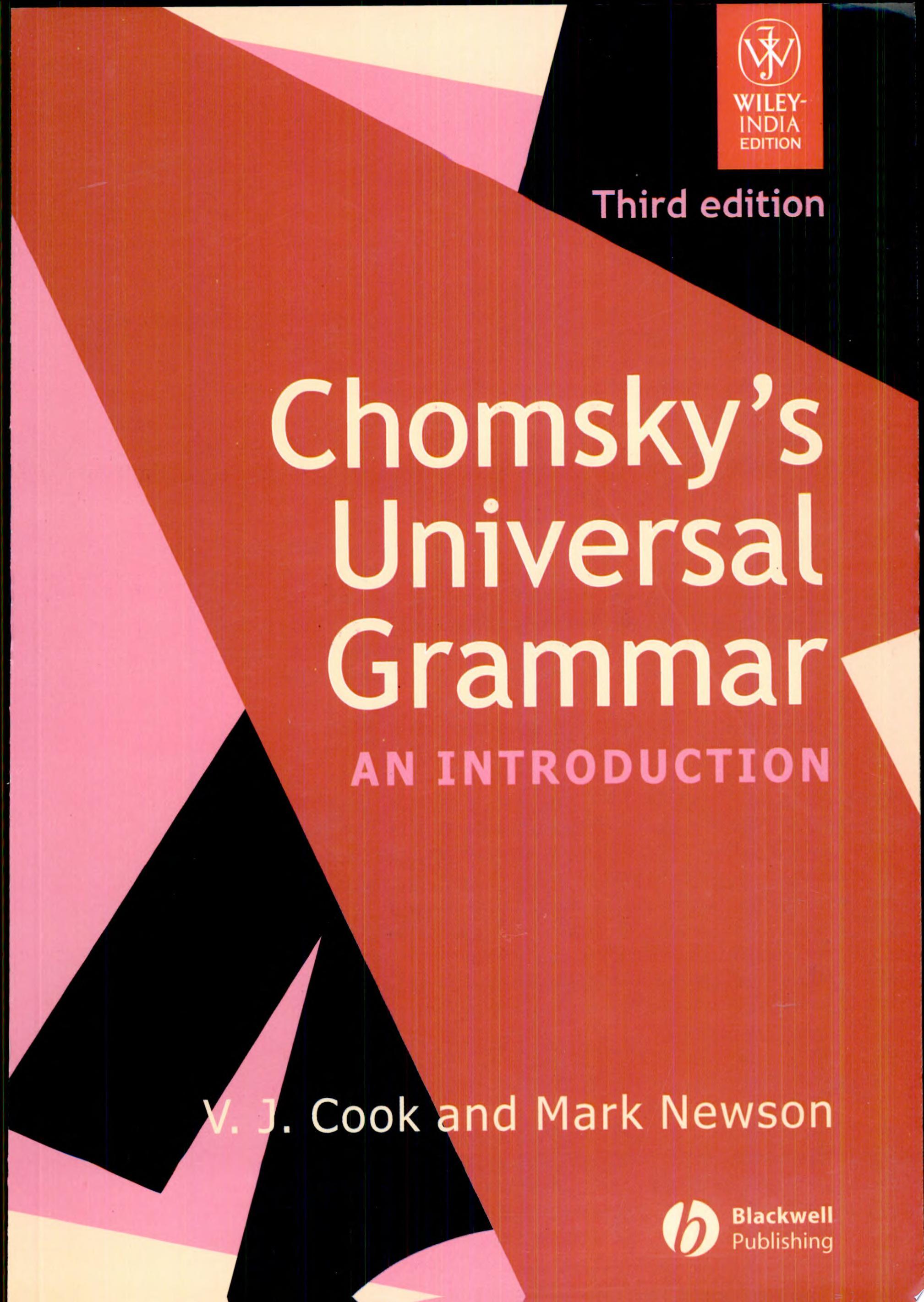 Chomsky s Universal Grammar