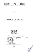 Municipal Code of the Province of Quebec