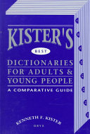 Kister s Best Dictionaries for Adults   Young People Book