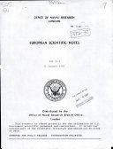 European Scientific Notes