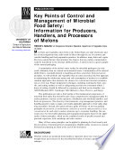 Key Points of Control and Management for Microbial Food Safety: Melons