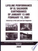 Lifeline Performance of El Salvador Earthquakes of January 13 and February 13, 2001