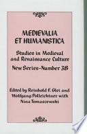 Medievalia Et Humanistica Book